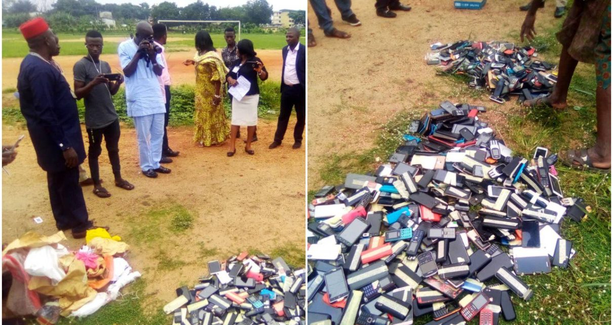 ibadan polytecnic burns cell phones