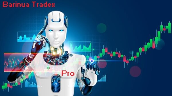 Robot Trading On Stock Market. Artificial Intelligence Of Forex