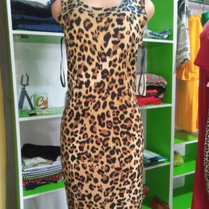 animal skin gown dress