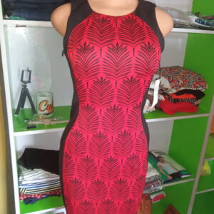 Red designer gown